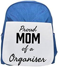 Proud Mom of a Organiser printed kid's Bleu  backpack, Cute backpacks, cute small backpacks, cute Noir  backpack, cool Noir  backpack, fashion backpacks, large fashion backpacks, Noir  fashion backpack | La Mise à Jour De Style