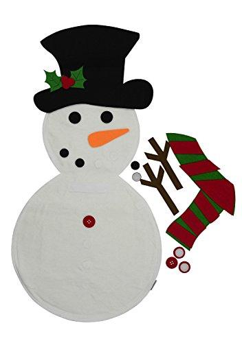 Mushy Moments Filz Schneemann Leben Größe Weihnachtsdekoration. Wand hängen Schneemann Kit mit voller Satz von Stick auf Ornamente-Hut / Nase / Arme und vieles mehr.