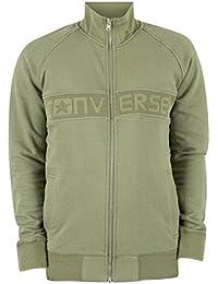 Converse Homme Mesh Rib Logo Track Jacket, Vert