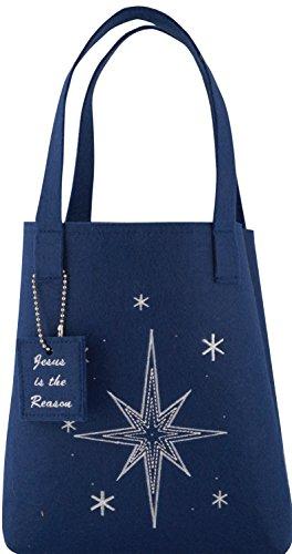 Family Christian Christian Weihnachten Faser Tote Geschenk Tüte-Blue Star -
