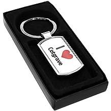 Porte-clés en métal Motif I Love Cotgrave 0190