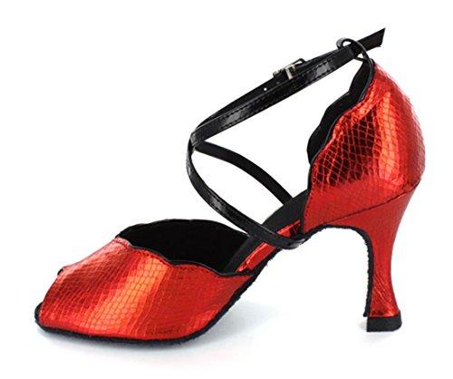 TDA ,  Damen Tanzschuhe Rot