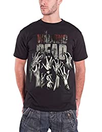 Official T Shirt THE WALKING DEAD Logo HANDS REACHING Zombie All Sizes