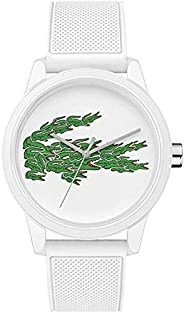 Lacoste Men'S White Dial White Silicone Watch - 201