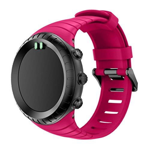 samlike nuova moda sport silicone braccialetto bracciale per suunto core, pink