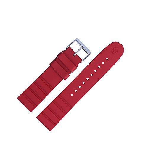 Victorinox Uhrenarmband 21mm Kunststoff Rot - Uhrband Set 005164