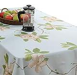ROUSIERTischdecke Orchidee Mit Spitze Retro Rechteckige Tischdecke Baumwolle Leinen Tischdecke Geeignet Für Home Küche Dekoration, Verschiedene Größen,140 * 200cm