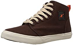 Sparx Men's Dark Brown Sneakers - 9 UK (SC0233G)