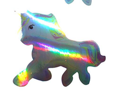 #29 Mini Einhorn Hologramm Aufkleber von Finest-Folia GmbH 9x7cm Unicorn Tasse T Shirt Kostüm (Hologramm Kostüme)