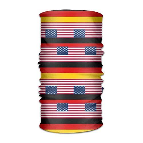 KENTONG Hill Unisex Usa Germany Flag Multifunctional Bandanas Sweatband Elastic Turban Headwear Headscarf Beanie Kerchief Usa Knot Turban