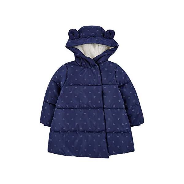 Mothercare Padded Coat Duvet Wrap Navy Heart Abrigo para Bebés 1