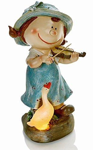 girl-with-musical-instrument-and-solar-powered-duck-novelty-garden-light