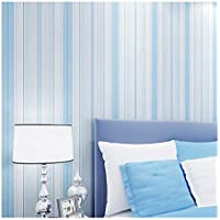 YJZ Moderne Wohnkultur Mediterranean Style Wallpaper Non-Woven Streifen Design Wallpaper Für Wohnzimmer, Schlafzimmer Und TV Hintergrund,Blue
