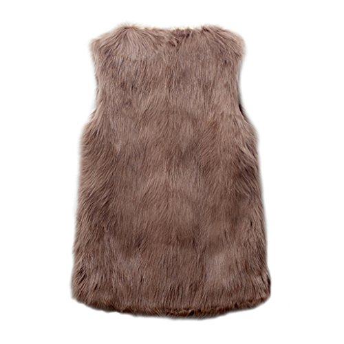 DINGANG - Manteau sans manche - Femme - 5-Khaki