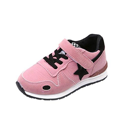 Kleinkind Kinder Schuhe Sportschuhe Ultraleicht Atmungsaktiv Turnschuhe Klettverschluss Low-Top Sneakers Laufen Schuhe Laufschuhe für Mädchen Jungen Sterne Mesh Heligen