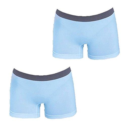 Yodensity Sous-Vêtements Bas Spécial Sport Culotte Sans Couture Pour Yoga Fitness bleu clair