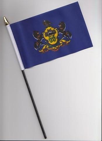 Pennsylvania USA State Hand Flag