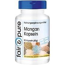 Gluconato de manganeso (4 mg) - 90 cápsulas - artículo vegetariano - Sustancia pura