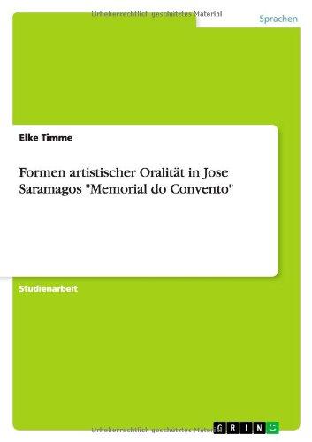 Formen artistischer Oralität in Jose Saramagos