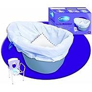 NRS Healthcare L99351 - Pack de 20 bolsas desechables para silla inodoro, biodegradables