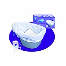 NRS Healthcare Carebag Disposable Commode Potty Liner, Non Biodegradable - Pack of 20 (Eligible for VAT relief in the UK)