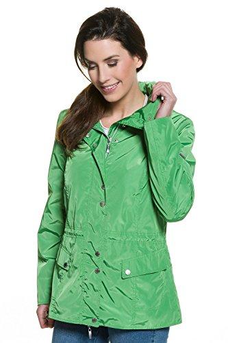 e769b4731d0b GINA LAURA Damen   Jacke   hoher Stekragen   Größe S-XXXL    Taillen-Tunnelzug, versteckte Kapuze   glänzender Webstoff   sanftes grün M  709392 49-M