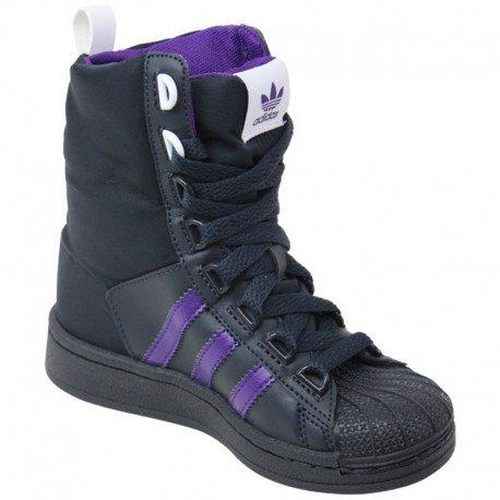 SUPERSTAR BOOT - Bottes Fille Adidas Noir