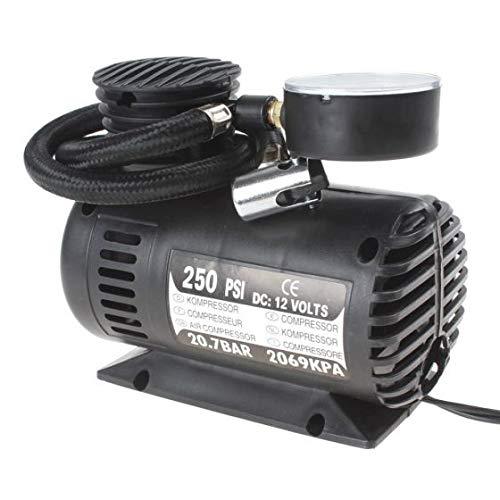 Mini Compressore D'aria Portatile Per Auto 250PSI 12Volt Con Manometro