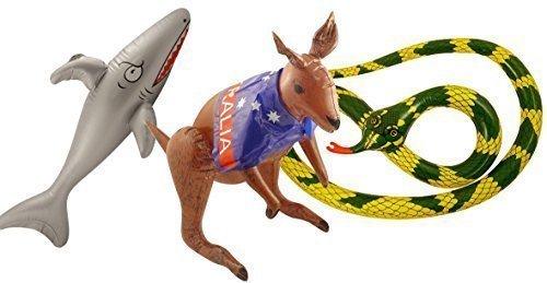 Day Aufblasbare Party Packung - Shark, Kangaroo & Schlange Dekorationen Set ()