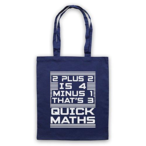Inspiriert durch Big Shaq The Ting Goes 2 Plus 2 Is 4 Quick Maths Inoffiziell Umhangetaschen Ultramarinblau