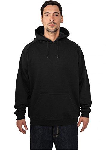 Urban Classics Herren Blank Hoody TB014 Urban Fit, Schwarz, Gr. Medium Classic Fleece Pullover Hoodie