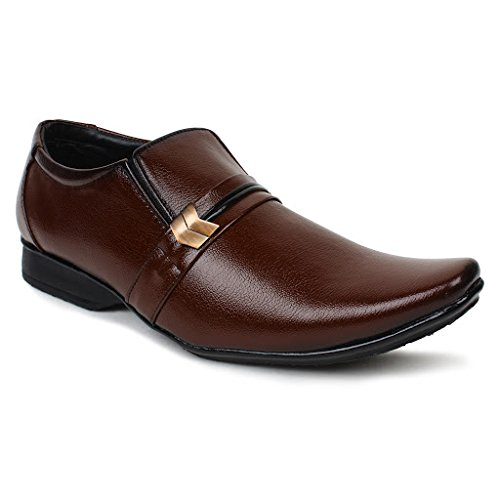 Buwch Men's Brown Synthetic Formal Shoes -8 Uk