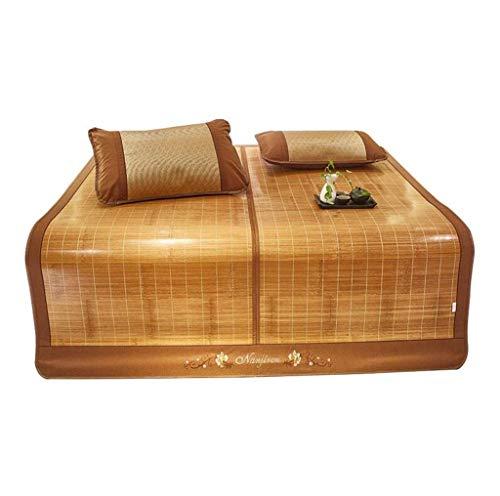 LPD-Bambus Matratzen Bettmatte Strohmatte Bambusmatratzen Sommer Schlafen Kühlmatten Stroh Pads Teppiche Falten Verdickung 6 Größen (Size : 135x195cm) (Stroh-matte Schlafen)