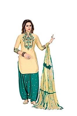 Fashion Stuff womens punjabi style patiyala salwar suit dress material