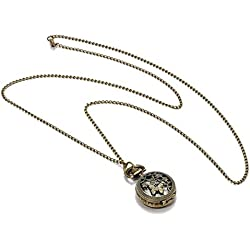 Facilla® Women's Quartz Watch Shoulder Pocket Watch Necklace Watch Chain Necklace Alloy Hollow Top