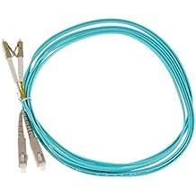 Gazechimp LC-SC Puente de fibra Cable Dúplex Multimodo Conector de Color Azul Multiusos Accesorios - Azul-3m