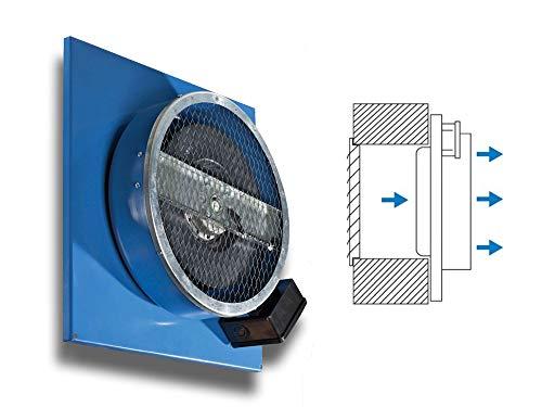 KCPN - Ventilador industrial empotrable (sistema de montaje empotrado, diámetro 315)