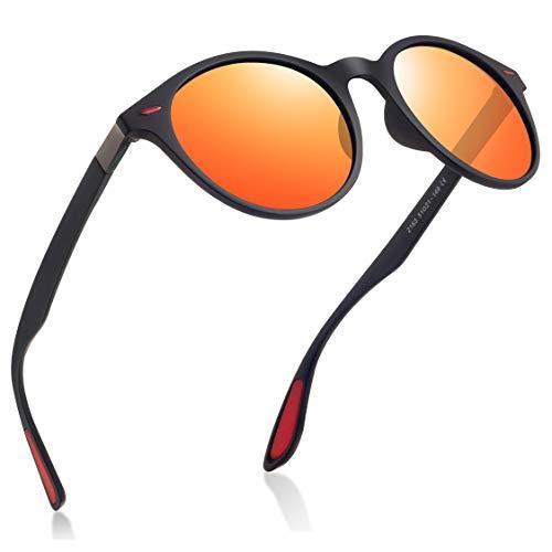 wearpro Retro Sonnenbrillen Herren Damen Runde Polarisierte Sonnenbrillen Herren Sportbrillen Mode TR Material Ultraleicht UV400