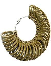 MagiDeal 32 Pieces/ Set Gold Plastic Finger Ring Sizing Measuring Tool Gauge Ring Sizer Circle Models
