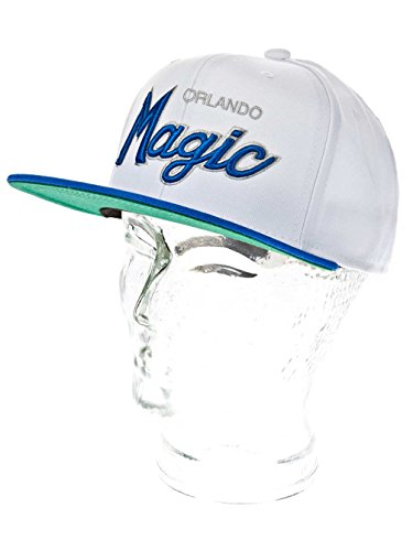 Mitchell & Ness - Casquette Snapback Homme Orlando Magic Throwback All White