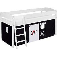 Preisvergleich für Lilokids IDA4105KW-PIRAT-SCHWARZ Kinderbett, Holz, Pirat schwarz, 208 x 98 x 113 cm
