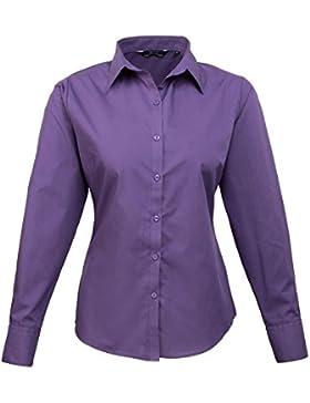 Premier Women 's formal Poplin Long Sleeve Camiseta