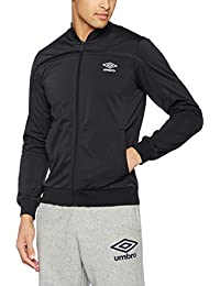 81f4f8cd67 Umbro Mens Black White Navy Polyester Retro Tracksuit Top Track Jacket