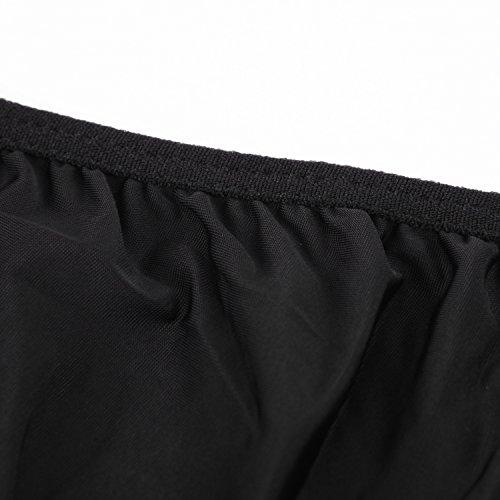 de feuilles Frauen Damen Wäsche Nachtwäsche Lingerie Dessous Nachthemd Kleid Pyjamas Babydolls Badeanzug Bikini Schwarz