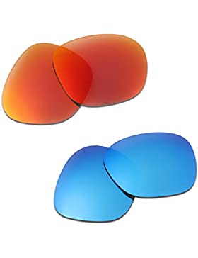 Hkuco Plus Mens Replacement Lenses For Oakley Garage Rock Sunglasses Red/Blue Polarized