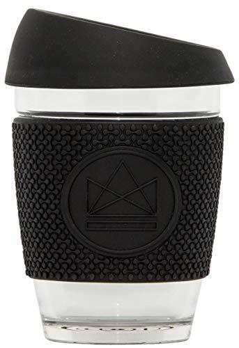 Neon Kactus - en verre réutilisables Tasse à café Noir