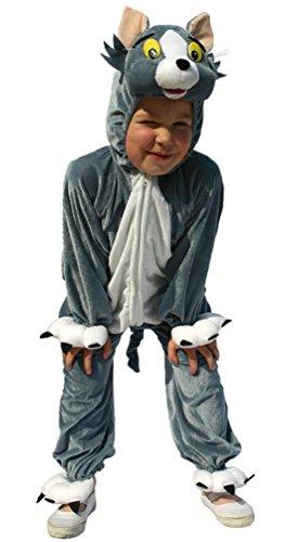 Karneval-Klamotten Kostüm Katze Tom Plüsch Junge Mädchen Karneval Tier Kinderkostüm Größe ()