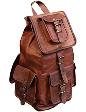 Valentine Geschenk von VH 50,8 cm handgefertigt echtes Leder Rucksack College Tasche Reise Tasche Laptop Tasche...