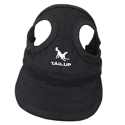 perfk Haustier Baseballmütze Sonnenhut Baseball Cap Mütze Kappe für kleine bis große Hunde - Schwarz, M
