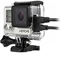 micros2u [Upgraded Version 2018] Replacement Skeleton Open Side Protective Housing Case. Compatible with Gopro HD Hero 3+ 4. Includes Protective Lens Cap